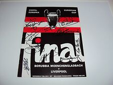 LIVERPOOL 1977 EUROPEAN CUP FINAL PROGRAMME SIGNED x10 KEEGAN CLEMENCE NEAL COA