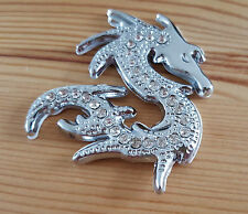 Chrome Metal Diamante 3D Dragon Badge Sticker for Mitsubishi L200 Shogun Sport