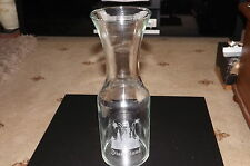 ETCHED TALL CLEAR GLASS CARAFE/VASE (WINE, WATER, JUICE, VASE) 1 LTR DISNEYLAND