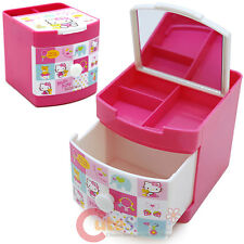 Sanrio Hello Kitty Jewelry Box Mini Organizer Storage Pencil Holder Pink Bear