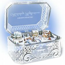 THOMAS KINKADE CRYSTAL CHRISTMAS MUSIC BOX HOLIDAY DECOR NEW
