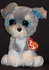 "TY BEANIE BOOS - WHISKERS the 6"" SCHNAUZER - MINT with MINT TAGS"