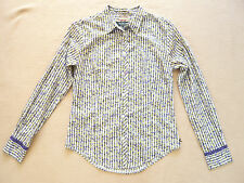 Long sleeve patterned cotton shirt by Paul Smith Black Label VGC UK size 8