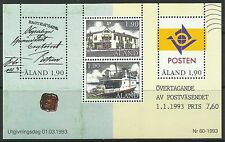 ALAND. 1993. Postal Autonomy Miniature Sheet. SG: MS65. Mint Never Hinged.