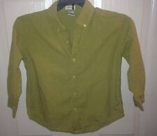 Gymboree Boys Size 4-5 Button Down Shirt Green Checks Plaid 1999