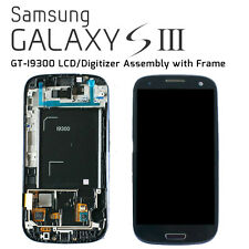 SAMSUNG Galaxy S3 LCD / Digitizer Assembly con Telaio-Pebble Blu (ORIGINALE)