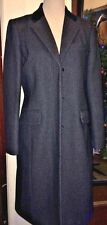 J CREW LADY'S  WOOL COAT, BLACK/GRAY, VELVET COLLAR, THINSULATE, SIZE 10