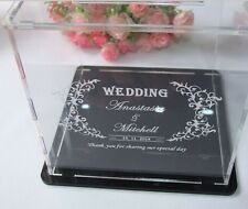 Wedding/Bridal Shower Keepsake Personalized Acrylic Guest Wishing Well Cards Box