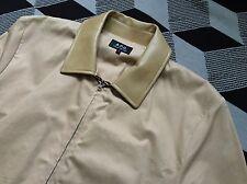 A.p.c. printemps veste d'aviateur, en cuir synthétique col, beige, taille s