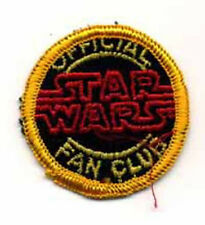 "Star Wars Vintage Fan Club Logo 2"" Patch-Vintage-FREE S&H (SWPA-FC-10)"