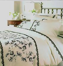 CREAM EMBROIDERED AMOUR KING DUVET SET (PLAIN P/CASES) HELENA SPRINGFIELD RANGE