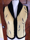 Robert Kitchen Small Fur Lined Yellow Vest