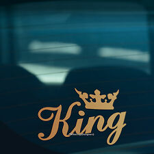 KING CROWN Gold Funny Car,Window,Bumper or Laptop DUB DRIFT Vinyl Decal Sticker
