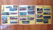 Three Pages From 1960 Chicago Tribune Magazine With Pictures of New 1961 Cars