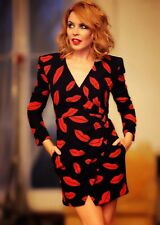 *SAINT LAURENT** Iconic Lips Print Wrap Mini Dress **£3000.00**