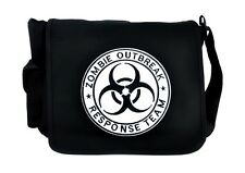 Zombie Outbreak Response Team School Messenger Bag Goth Punk Alternative Cyber