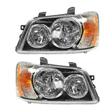 Headlights Headlamps Left & Right Pair Set NEW for 01-03 Toyota Highlander