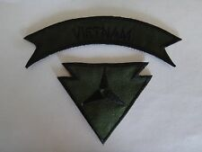 Set Of VIETNAM + 3rd CORPS RECONDO Qualification Subdued Patches