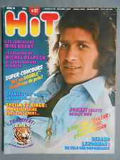 ►HIT MAGAZINE 27/1974 - MIKE BRANT - DELPECH - STONE CHARDEN - SHEILA ET RINGO