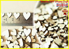 100 Wooden Heart shapes Craft Scrapbooking Ply Wood heart gift, MDF High Quality