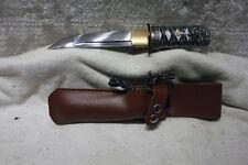 Japanese Handmade Shō Folded Steel Tanto Sword Sharp + Free Holster