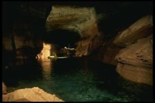 194024 RAFTING AN UNDERGROUND lago in un GRAND CANYON GROTTA A4 FOTO STAMPA