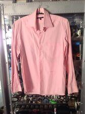 Donna KARAN DKNY uomo camicia shirt sweater manica lunga tg. 42 L-XL rosa molto pregiato