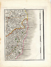 RARE JOHN CARY COPPERPLATE MAP - ALDBURGH, SOUTHWOLD, LOWESTOFT, YARMOUTH (1794)