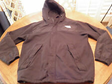 The NORTH FACE Black Hoodie Jacket Heavy Cotton Fleece Nylon Authentic EUC XL