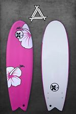 "Triple X Soft Top 5' 10"" Fishboard Surfboard/Kid's Surfboard/Beginner/Pink"