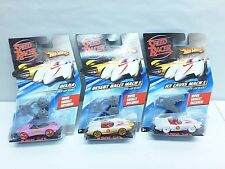 Hot Wheels Speed Racer Desert Rally Mach 5, Ice Caves Mach 5, And Delila