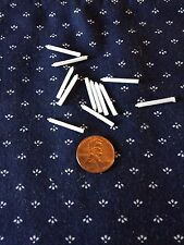 Lot of 12 - Tiny White Candles- 1:12 scale Dollhouse Miniature