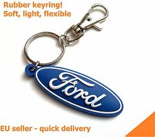 FORD keychain key ring fob - unique RUBBER emblem - excellent quality- check it!
