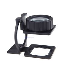 Foldable Magnifier 20x Stand Measure Scale Loupe Magnifying Glass Portable Optic