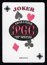 "Single Joker Swap Playing Card PGC "" 21 "" Special Sm's Town."