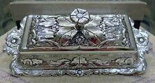**Vintage Collectible Brillium Silver Tone Butter Dish Unique NIB