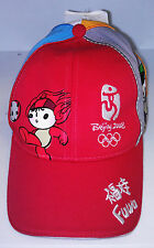 Beijing China 2008 Fuwa Olympics Youth Hat Baseball Cap New as is pictured