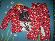 Lego Ninjago Pajamas Sleepwear 2pc Set Sz 4 Masters of Spinjitzu Lego NWT