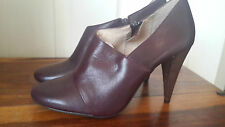 BRAND NEW M&S AUTOGRAPH INSOLIA PURPLE PLUM HIGH HEEL ANKLE BOOTS SIZE UK 4.5