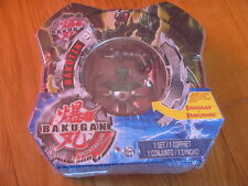 New & sealed Bakutin Mechtanium Surge GREEN Bakugan figure + 1 Bakunano tin box