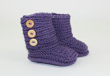 PRINTED INSTRUCTION-BABY UNISEX BOOTIES -  BUTTON BOOTS KNITTING PATTERN