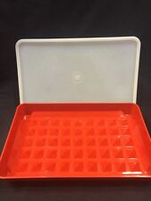 Vintage Tupperware #1292 Bacon Deli Meat Hot Dog Marinade Paprika Keeper Red