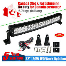 120W 24inch LED Light Bar Work Combo Beam Curved Offroad Truck Boat Jeep Ford 20