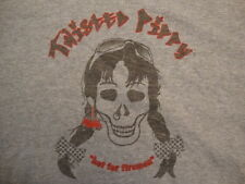 Twisted Pippy Hot For Fireman Biker Chick Apparel Fan Gray T Shirt Size M