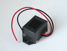 Miniature low voltage DC transistor buzzer oscillator for 12 volt battery