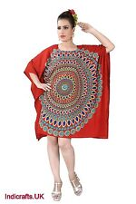 Indian Tunic Tops Summer Viscose Kimono Style Kaftans Beach Party Dress Sarongs