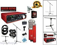Home Recording Interface Bundle Studio Specially Package Vocal Audio Mic Stand