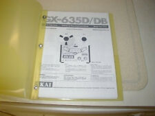 AKAI GX-635D/DB REELTO REEL TAPE DECK OPERATOR'S MANUAL FREE SAME DAY SHIPPING