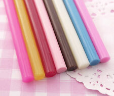 8 x Mixed Colour Deco Sauce Decoden Hot Melt Glue Sticks (7.5mm) 10cm UK SELLER