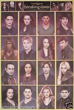 "TWILIGHT SAGA ""CAST COLLAGE OF BREAKING DAWN PART 2"" MOVIE POSTER FROM ASIA"
